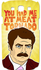 Ron Swanson - Meat Tornado - Parks and Recreation - Samsung Galaxy S3 - iPhone - PeachyApricot